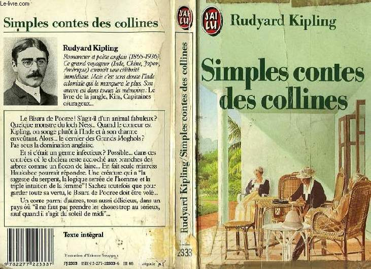 SIMPLES CONTES DES COLLINES - PLAIN TALES OF THE HILLS, 1886-1887