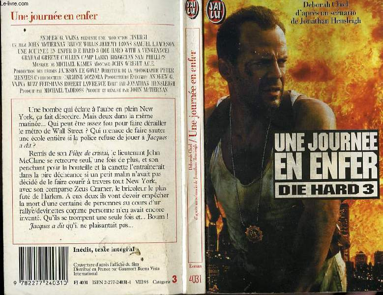 UNE JOURNEE D'ENFER - DIE HARD WITH A VENGEANCE