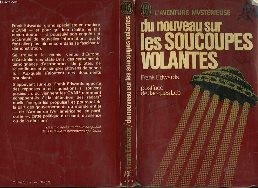 """Liste de l'ancienne collection """"j'ai Lu - L'Aventure Mystèrieuse"""" sur les ovnis et ET RO90071687"""
