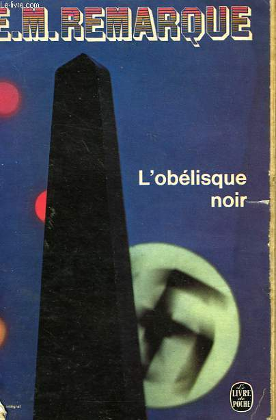 L'OBELISQUE NOIR - HISTOIRE D'UNE JEUNESSE ENTRE DEUX AGES