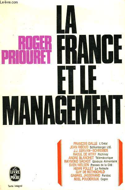 LA FRANCE ET LE MANAGEMENT