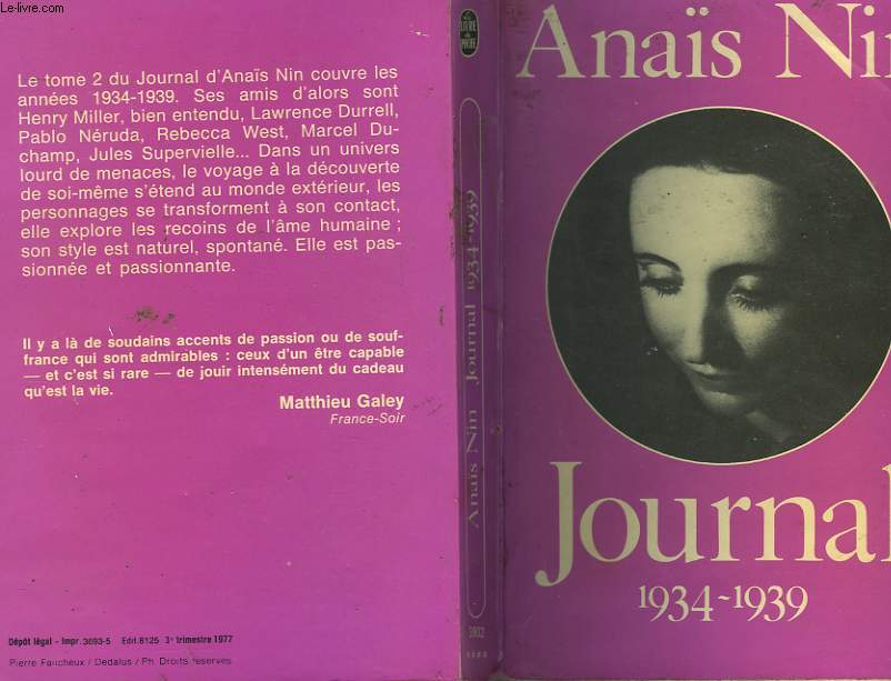 JOURNAL TOME 2 : 1934 - 1939