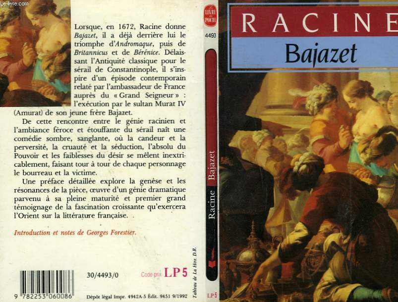 BAJAZET - TRAJEDIE 1672