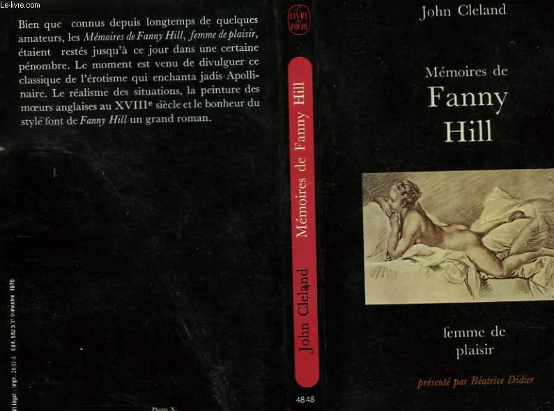 MEMOIRES DE FANNY HILL FEMME DE PLAISIR