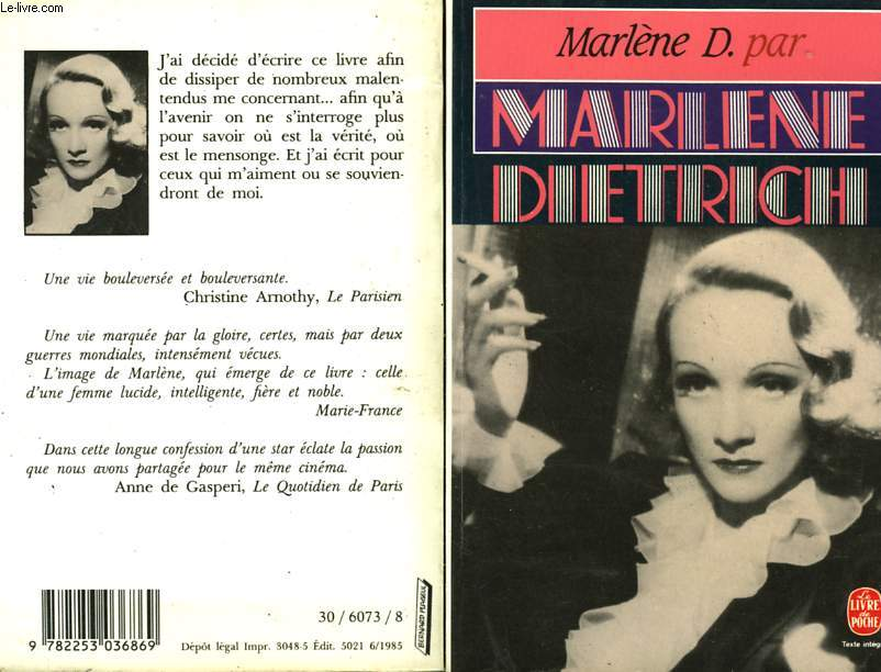 MARLENE D. PAR MARLENE DIETRICH