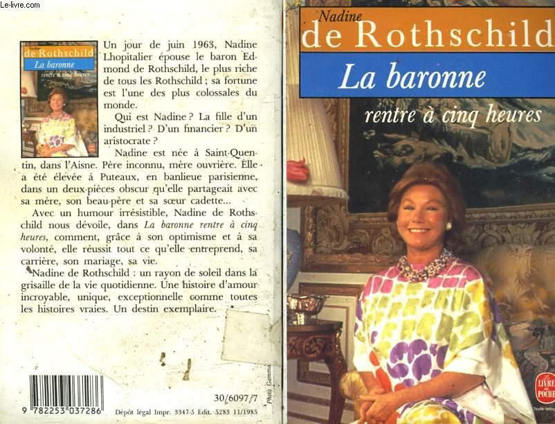 Rothschild Nadine De Tous Les Articles D Occasion Rares Et De Collection Le Livre Fr