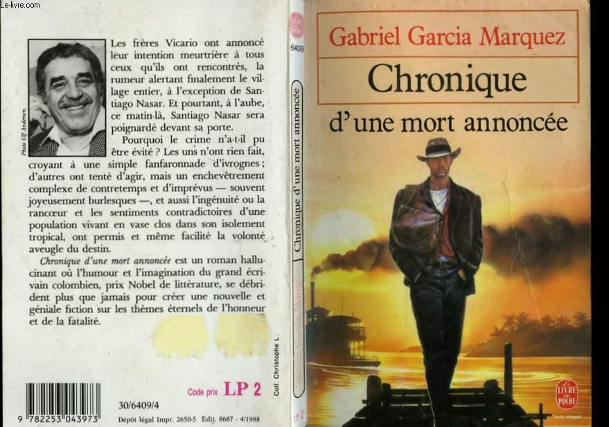CHRONIQUE D'UNE MORT ANNONCEE