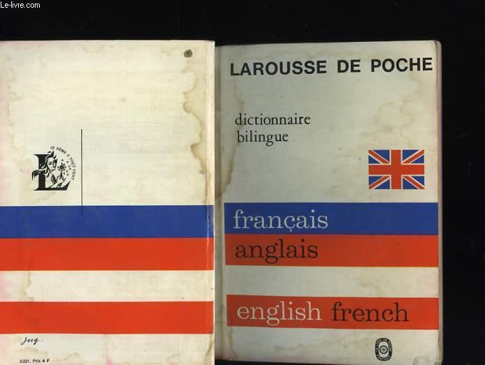 DICTIONNAIRE BILINGUE FRANCAIS ANGLAIS - ANGLAIS FRANCAIS