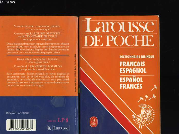 DICTIONNAIRE FRANCAIS ESPAGNOL - ESPAGNOL FRANCAIS