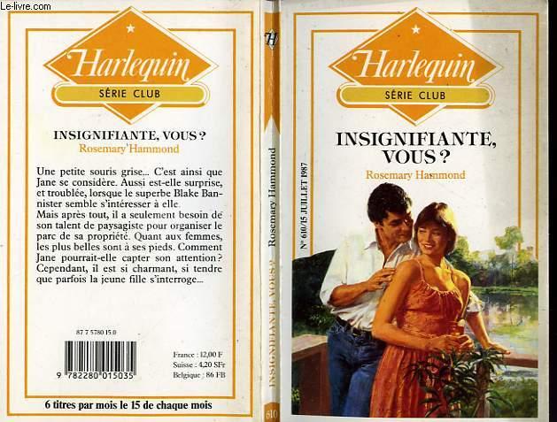 INSIGNIFIANTE, VOUS ? - PLAIN JANE