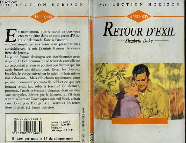 RETOUR D'EXIL - OUTBACK LEGACY