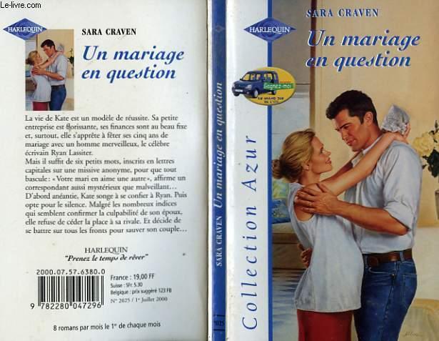 UN MARIAGE EN QUESTION - A MARRIAGE UNDER SUSPICION