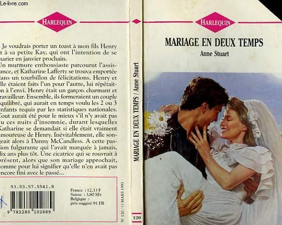 MARIAGE EN DEUX TEMPS