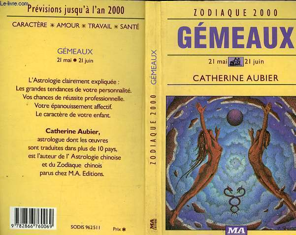 GEMEAUX 21 MAI - 21 JUIN - ZODIAQUE 2000