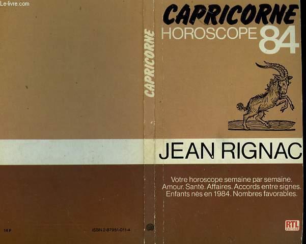 CAPRICORNE - HOROSCOPE 84