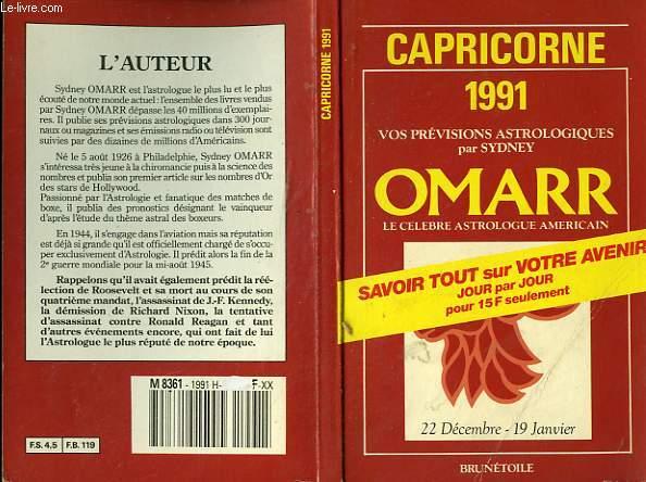CAPRICORNE 1991 - 22 DECEMBRE - 19 JANVIER