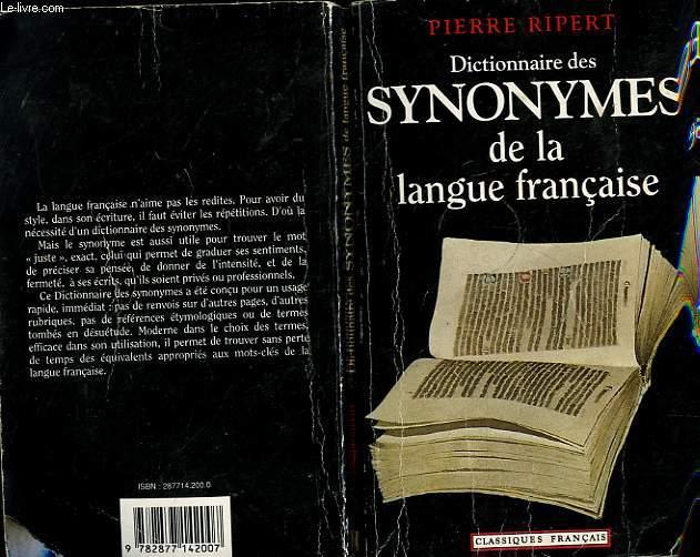 DISCTIONNAIRE DES SYNONYME DE LA LANGUE FRANCAIE