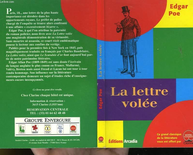 LA LETTRE VOLEE - SUIVIE DE - LE SCARABEE D'OR