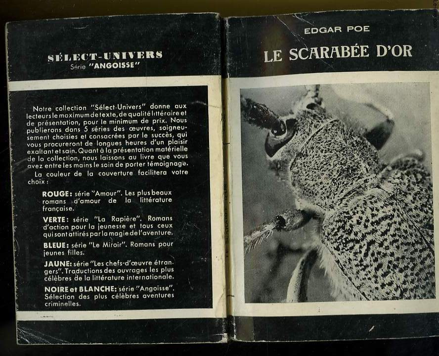 LE SCARABEE D'OR - SERIE ANGOISSE