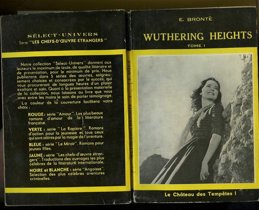 WUTHERING HEIGHTS LE CHATEAU DES TEMPETE TOME 1