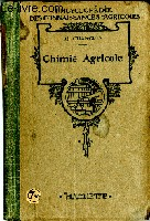 Chimie agricole