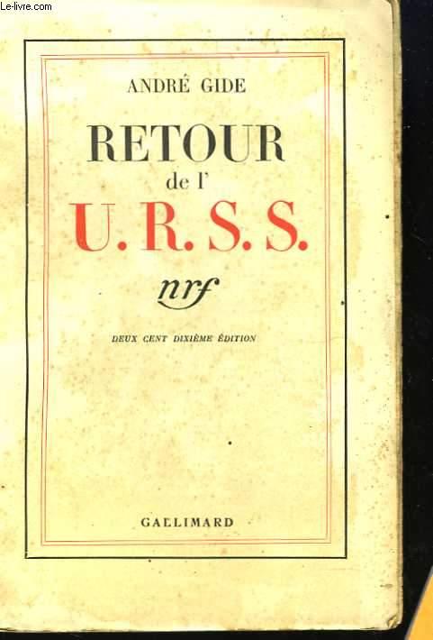 Retour de l'U.R.S.S.