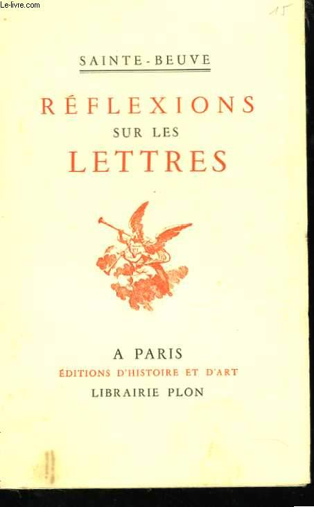 Réflexions sur les lettres