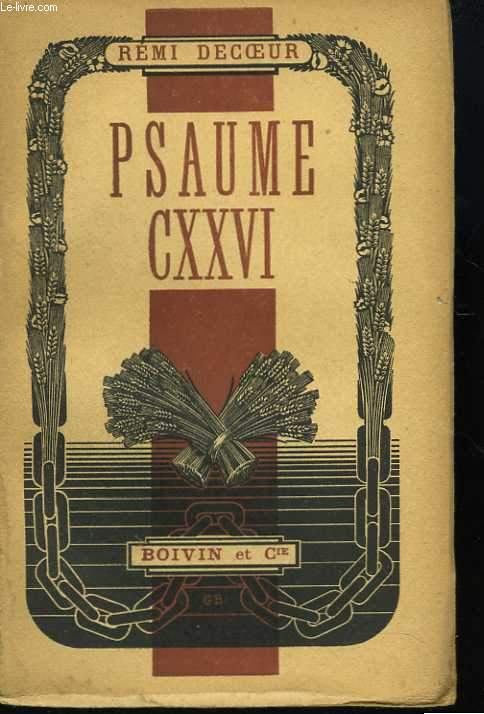 Psaume CXXVI. Proses de captivité