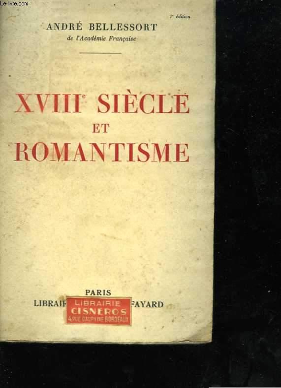 XVIIIè siècle et romantisme