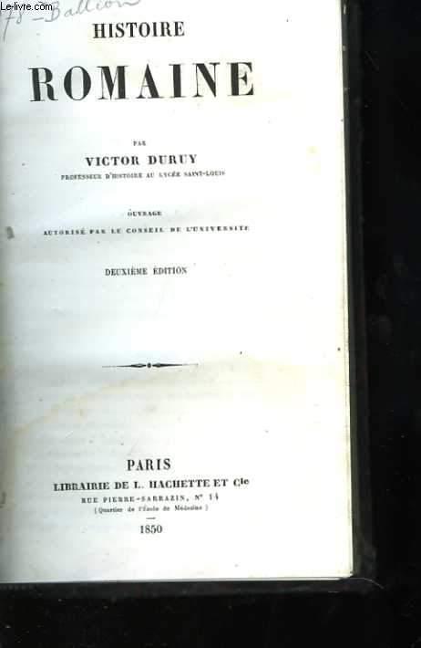 Histoire romaine. Deuxième édition