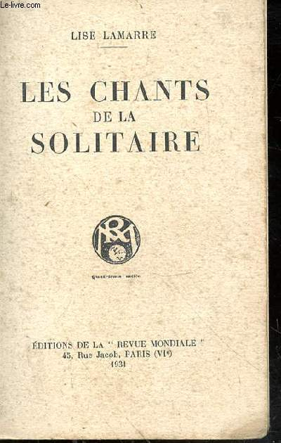 Les chants de la solitaire