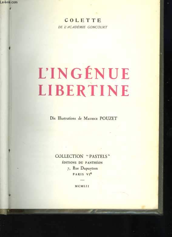 L'ingénue libertine. Dix Illustrations de Maurice Pouzet