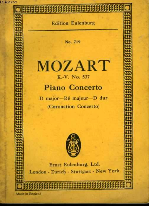 Concerto D majeur for Pianoforte and Orchestra