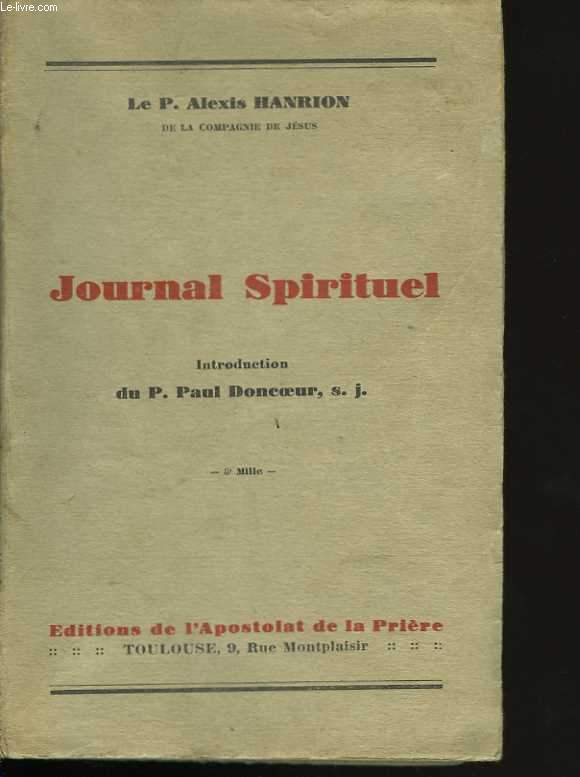 Journal spirituel. Introduction du P. Paul Doncoeur
