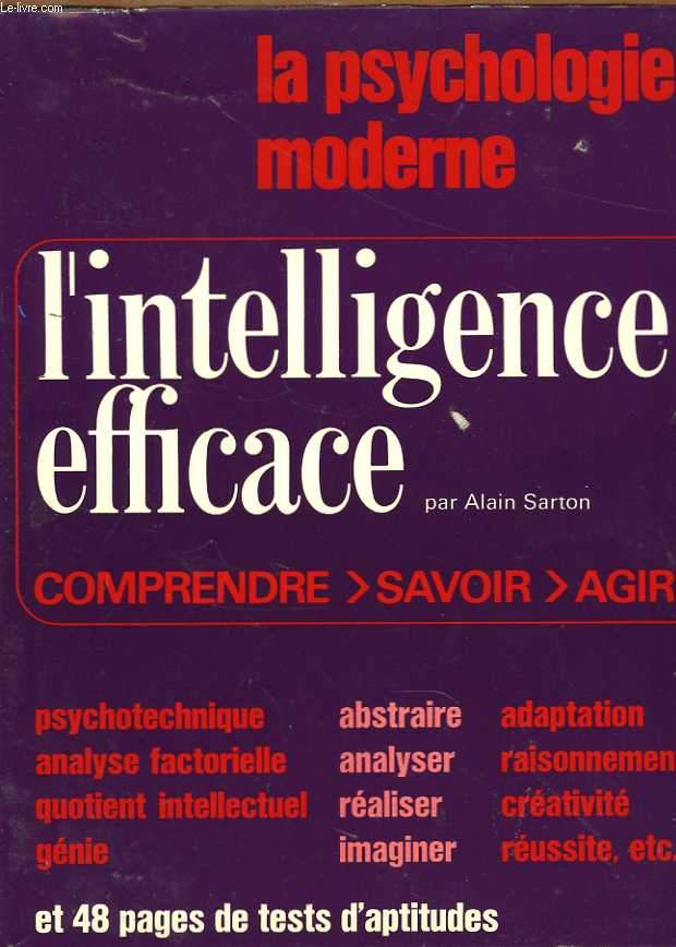 La psychologie moderne. L'intelligence efficace