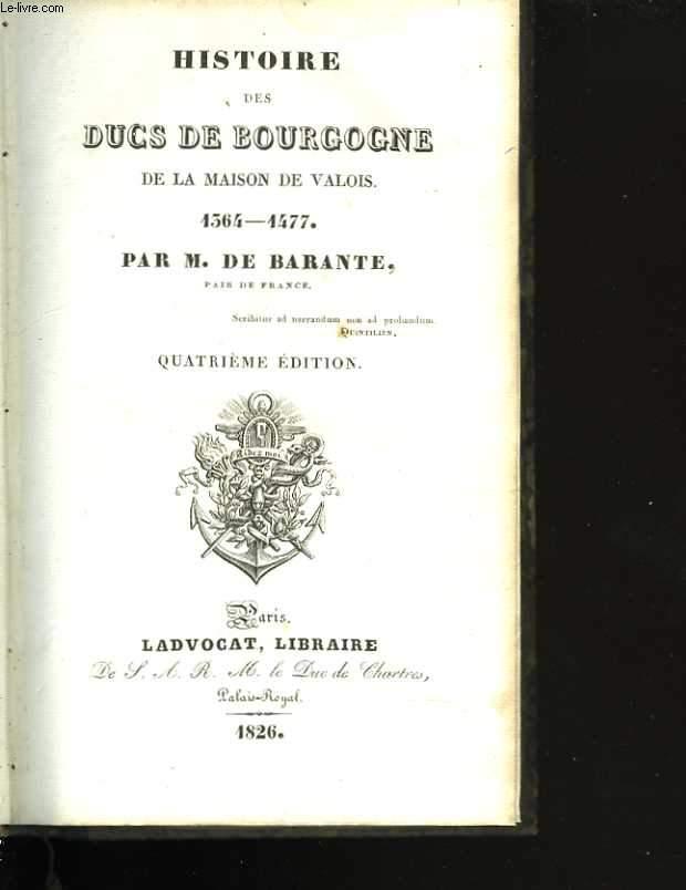 Histoire des Ducs de Bourgogne de la maison des Valois. Tome Troisième. Jean sans peur