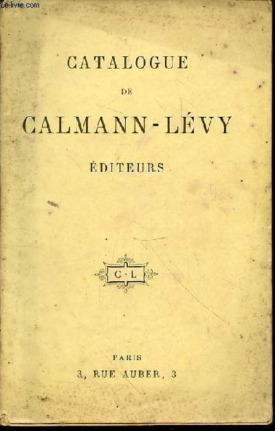 Catalogue de Calmann-Lévy éditeurs