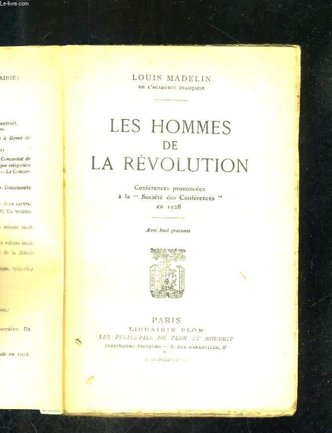 Les hommes de la Révolution