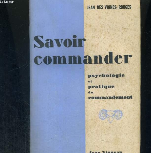 Savoir commander