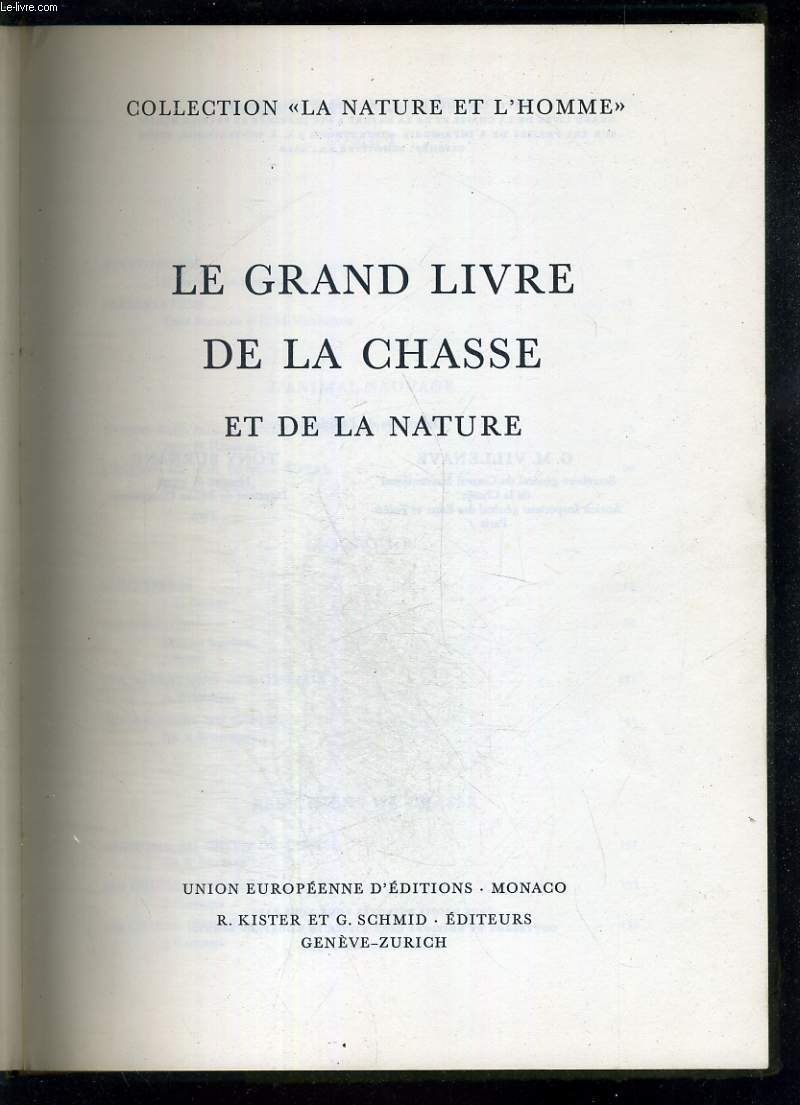 Le grand livre de la chasse et de la nature