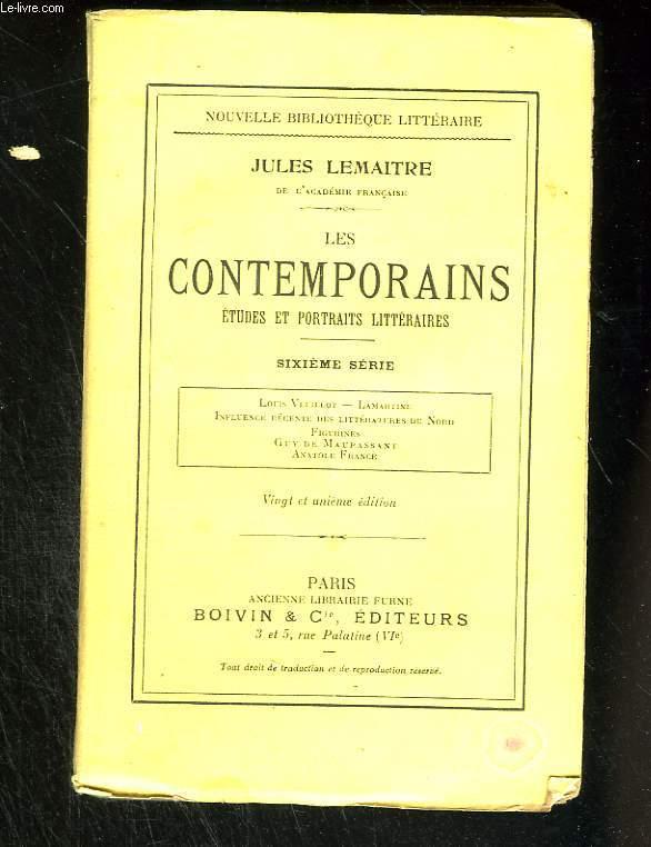Les contemporains. Etudes et portraits littéraires. Sixième série