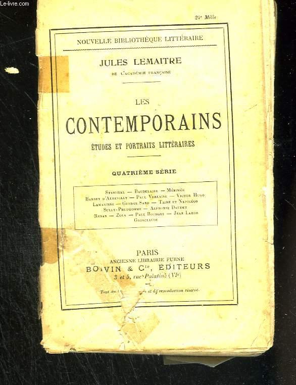 Les contemporains. Etudes et portraits littéraires. Quatrième série.