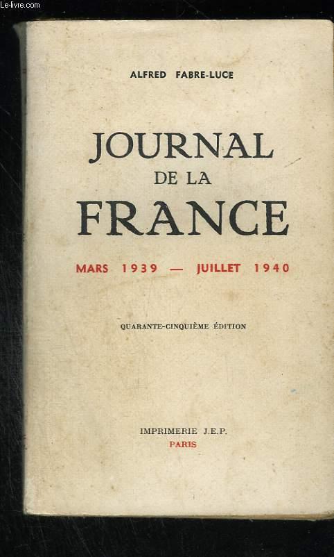 Journal de la France (Mars 1939 - Juillet 1940)