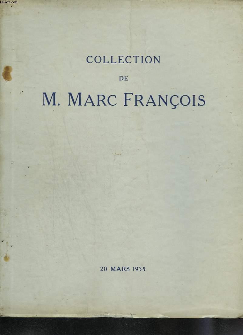 Catalogue des tableaux modernes (gouaches et pastels) appartenant à M. Marc François