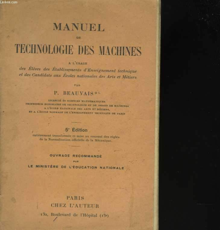Manuel de technologie des machines