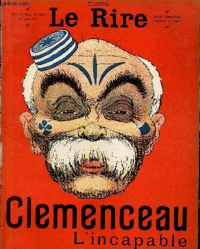 Le rire N°231 de la nouvelle série, Clemenceau l'incapable.