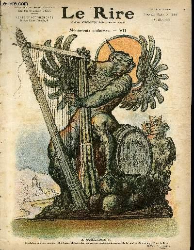 Le rire N°285 de la nouvelle série - Monuments anthumes - VII - A Guillaume II.