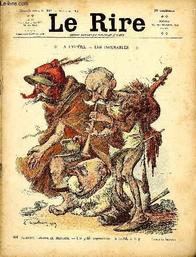 Le rire N°316 de la nouvelle série A l'Opéra - Les incurables.