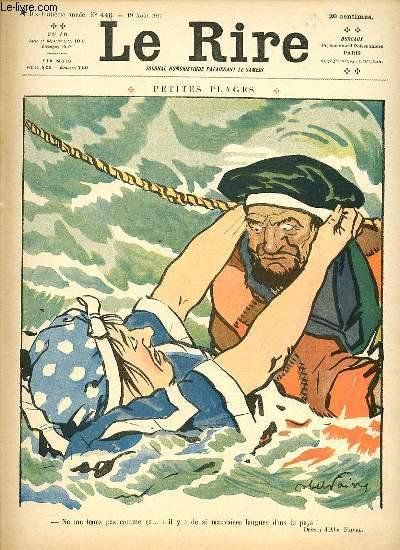 Le rire N°446 de la nouvelle série, Petites plages.