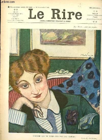 Le rire N°502 de la nouvelle série - L'HOMME QUI NE COMPREND PAS LES FEMMES.